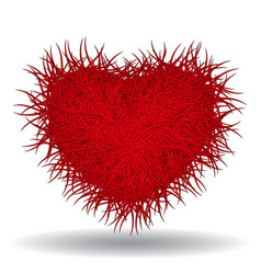Big hot red spiked heart vector