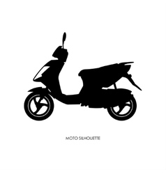 black silhouette city motorcycle vector image