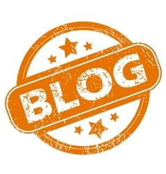 Blog grunge icon vector