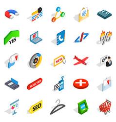 case icons set isometric style vector image