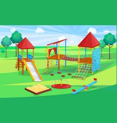Children active place school playground vector