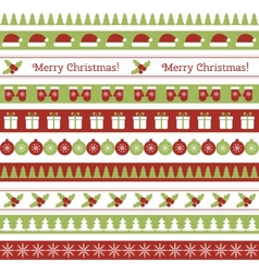 Christmas seamless borders vector