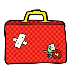comic cartoon luggage vector image