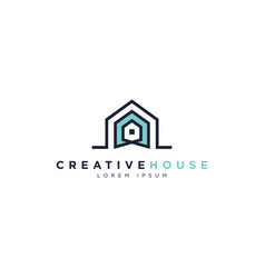 creative simple house logo symbol vector image