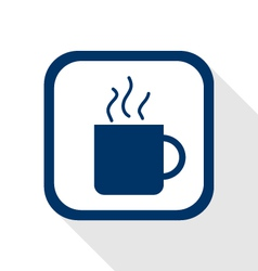 cup coffee flat icon vector image