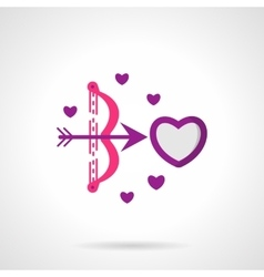 Cupids shot bright flat icon vector image
