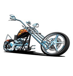 Custom American Chopper Motorcycle vector