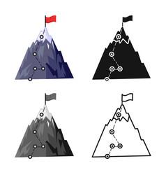 Design peak and mountain icon web vector