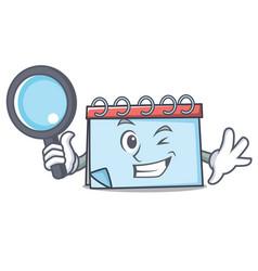 detective calendar character cartoon style vector image