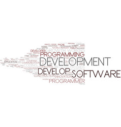 develop word cloud concept vector image