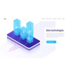Digital information technologies networking data vector