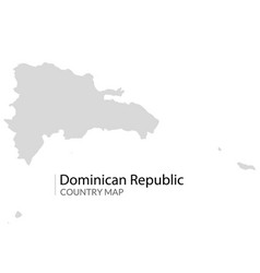 dominican republic map country caribbean vector image