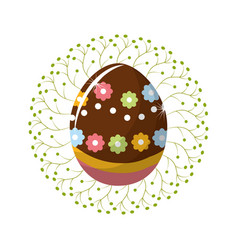 Easter eggs day icon vector