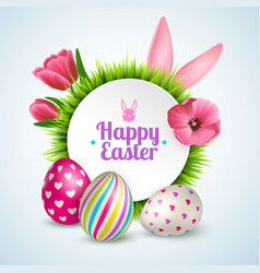 Easter realistic vector