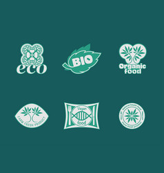 eco food stickers vector image
