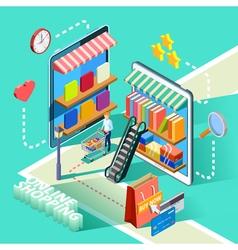 Ecommerce Online Shopping Isometric Design Poster vector image