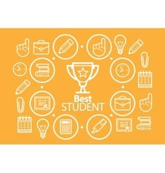 Education background vector image