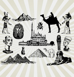 egyptian set vector image