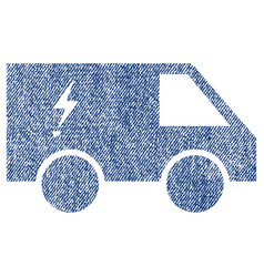 Electric power car fabric textured icon vector