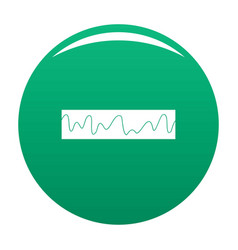 Equalizer sonic icon green vector