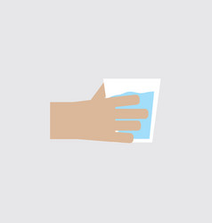 Flat design hand a man with a drinking glass vector