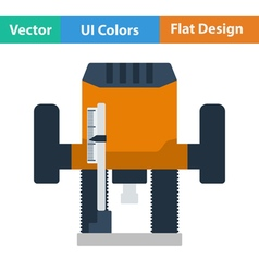 Flat design icon of plunger milling cutter vector image