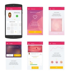 Flat Mobile Web UI Concept for mobile vector image