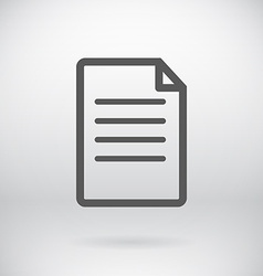 Flat New Document Open File Symbol Background vector