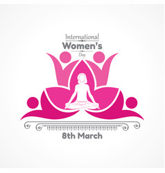For international womens day vector