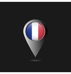 France flag pointer vector image