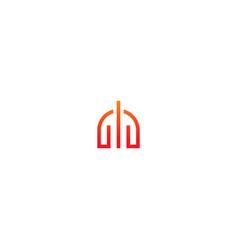 gate building line company logo vector image