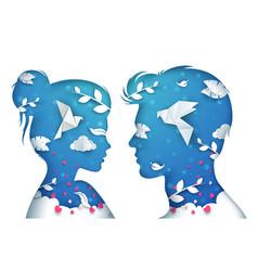 girl and boy man and woman vector image