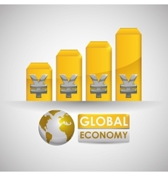 Global economy design money icon isolated vector image