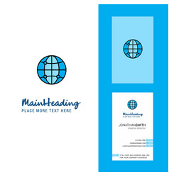 globe creative logo and business card vertical vector image