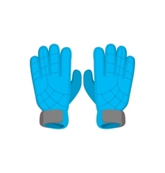 Gloves goalkeeper cartoon icon vector