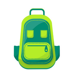 green backpack isolated on white vector image