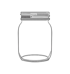 hand drawn jar vector image