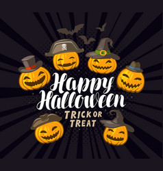 Happy halloween banner or greeting card holiday vector