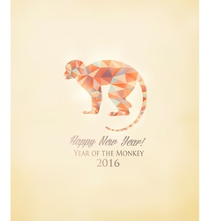 Happy New Year 2016 background with a monkey made vector image