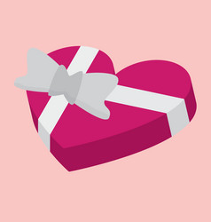 heart shaped gift box icon for web vector image