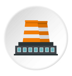 industrial building icon circle vector image