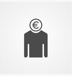 investor icon sign symbol vector image