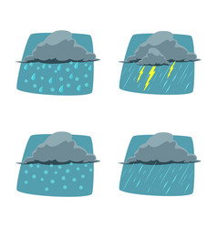 isolated object of weather and climate icon set vector image