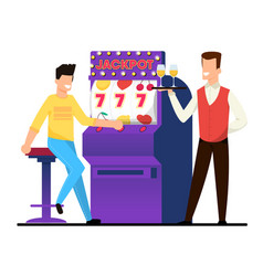 jackpot on casino slot machine vector image