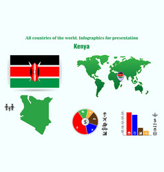 kenya all countries of the world infographics for vector image