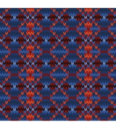 Knitted seamless background in Fair Isle style vector image