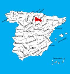 La rioja map spain province administrative map vector