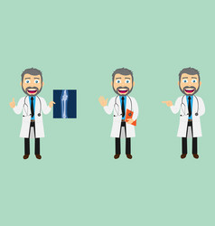 lab coat doctor set v1a vector image
