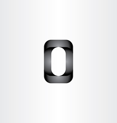 letter o 3d black icon vector image