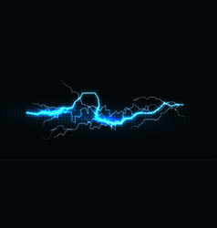 lightning various colors glowing thunderbolt and vector image